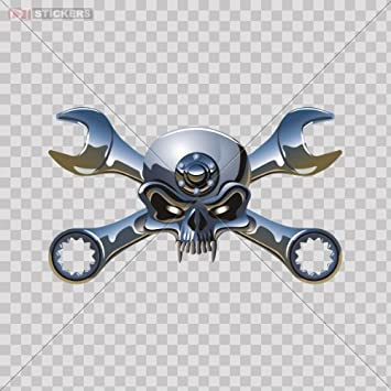 Amazoncom Decal Sticker Skull Mechanic Monster Motorcycle Helmet - Vinyl stickers for motorcycle helmets