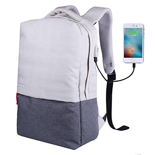 Travel Outdoor Computer Backpack Laptop bag(Grey) - 7