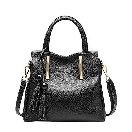 Leather Black VQ0879 Fashion Bag DISSA Casual Handbag Women Shoulder 4fwqBE