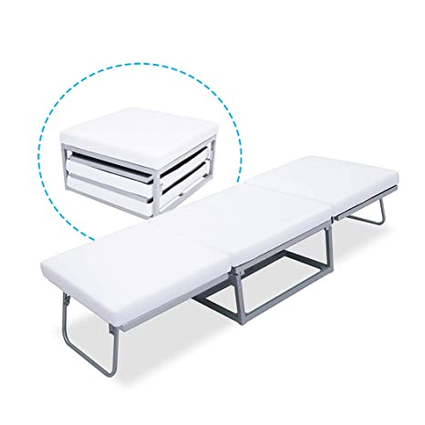 Amazon.com: Cama plegable triple otomana para invitados con ...