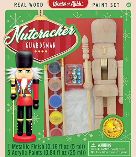 - MasterPieces Works of Ahhh Christmas Real Wood Large Acrylic Paint Kits, Nutcracker Guardsman, Mom's Choice Award, For Ages 4+