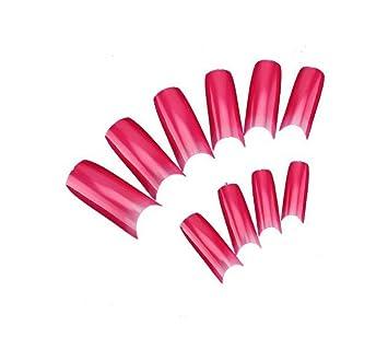 Hot Pink Color Nails