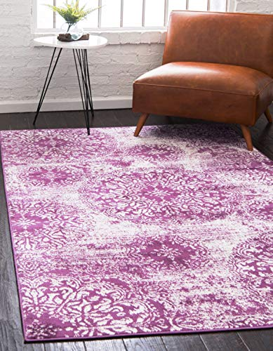 Unique Loom 3141676 Sofia Collection Traditional Vintage Purple Area Rug 3 3 x 5 3 , Rectangle