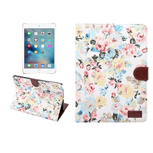 Finish Flower (New iPad 2017 (9.7 inch) Case, Dteck Ultra Slim Book Style Flower Pattern [Cloth Finish] Smart Stand Case with Auto Wake/Sleep Function for Apple New iPad 9.7