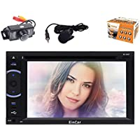 Android 5.1 Car Stereo with Octa-Core Double Din 6.2 Touchscreen Car DVD Player 1080P Video In Dash Navigation Vehicle GPS Unit Radio Audio Receiver Support Bluetooth WiFi Airplay+Reversing Camera