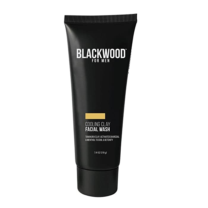 Blackwood For Men Cooling Clay Facial Wash Tube, 7.41 Fluid Ounce