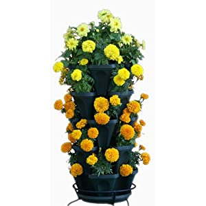 5-Tier-Stackable-Strawberry-Herb-Flower-Vegetable-Planter-Vertical-Gardening-Indoor-Outdoor-Stacking-Garden-Pots