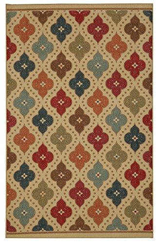 Mohawk Home Soho Jewel Medallion Kaleidoscope Ogee Printed Area Rug, 7'6 x 10', Multicolor