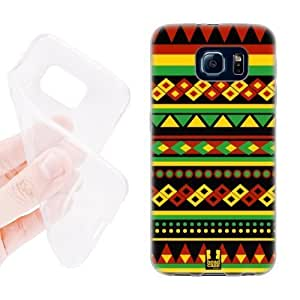 Head Case Designs Aztec Rasta Colour Patterns Soft Gel Back Case Cover for Samsung Galaxy S6 G920, Galaxy S6 Duos