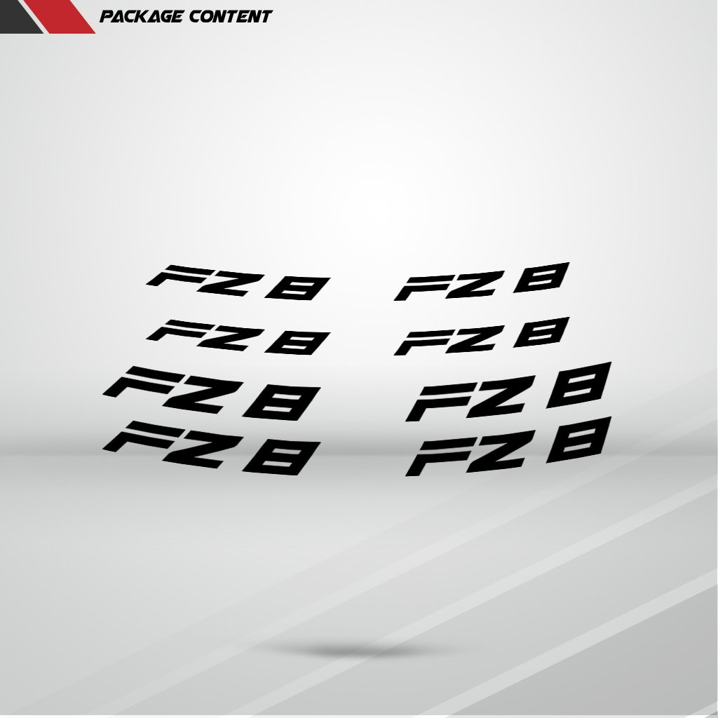 Reflective Red Motorcycle Inner Rim Tape Sticker Decal for Yamaha FZ8 by Stickman Vinyls (Image #2)