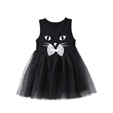 821d450fb THE LONDON STORE Girls Princess Dress Kid Party Wedding Pageant Black 3D  Cat Formal Tutu Lace Dresses: Amazon.in: Clothing & Accessories
