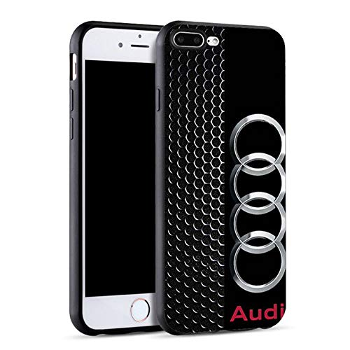 Minason DIY Car Logo Case for iPhone 6 6S Plus 5 5S SE 7 Audi Case Soft Silicone Cover for iPhone 8 Plus X Fundas Capinha Coque (SJK2040005HB - for iPhone 8Plus)