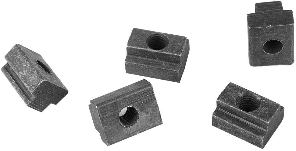 5pcsT Slot Nuts Carbon Steel Nut Black Oxide Grade 8.8 Carbon Steel Tapped Through M6 Thread Cleat Cleats