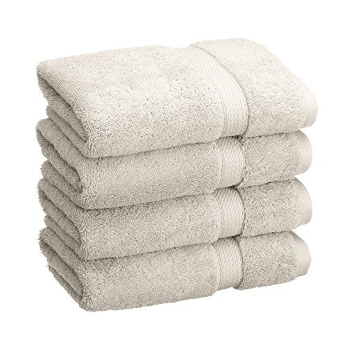 Superior 900 GSM Luxury Bathroom Hand Towels, Made of 100% Premium Long-Staple Combed Cotton, Set of 4 Hotel & Spa Quality Hand Towels - Stone, 20