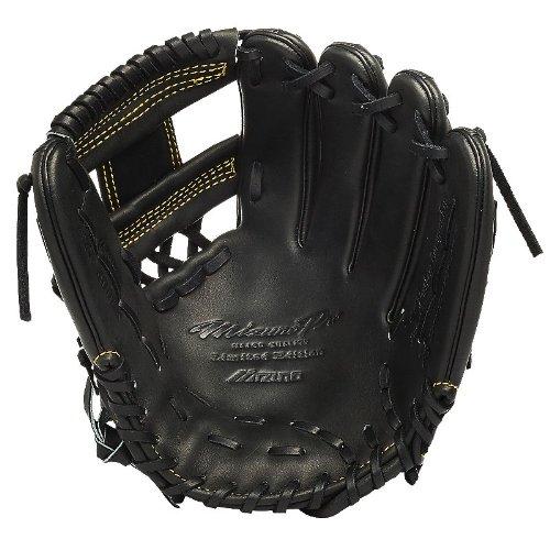 Mizuno GMP500BK Pro Limited Edition Right Handed Throw Baseball Fielders Mitt, Black, 11.75-Inch