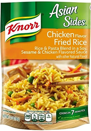 Knorr Asian Sides Rice Side Dish, Chicken Fried Rice 5.7 oz (Package of 4) (Fried Chicken Dinner)
