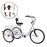 Best Adult Tricycles - Barbella 7 Speed Adult Tricycle Three-Wheeled Bicycle Review