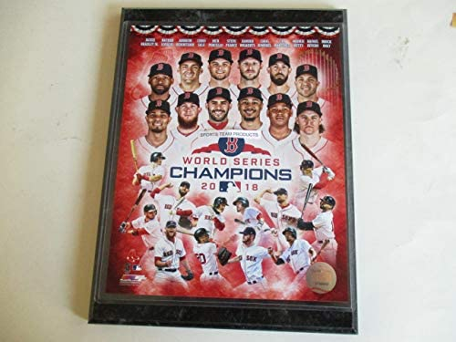 679d56350d8 2018 BOSTON RED SOX WORLD SERIES CHAMPIONS STARS PHOTO MOUNTED ON A 9
