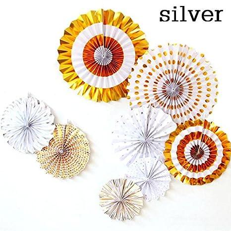 Amazon Lavenz Decorative Crafts 40cm Flower Origami Paper Fan