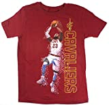 space james - Lebron James Cleveland Cavaliers NBA Youth Pixel Player T-Shirt (Youth Large 14/16)