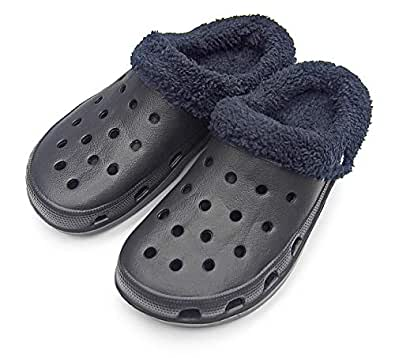 Amazon.com | Sole Selection Mens Clogs Fur Lined Slippers