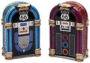 "StealStreet SS-CG-61826 2.88"" Blue and Purple Jukebox Set Salt and Pepper Shakers"