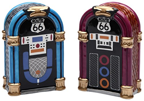 StealStreet SS-CG-61826, 2.88 Inch Blue and Purple Jukebox Set Salt and Pepper Shakers ()