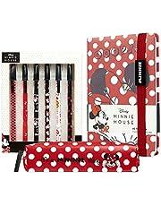 Disney Anteckningsbok, pennfodral och pennset, flickors skolmaterial, Mimmi Pigg gåvor för flickor