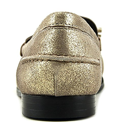 Cole Haan Kvinnor Nypa Slagna Tofs Öre Loafer Guld Metallic