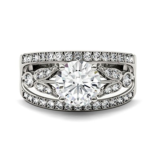 Forever Brilliant Round 7.5mm Moissanite Ring-size 7, 1.91cttw DEW By Charles & Colvard by Charles & Colvard (Image #3)