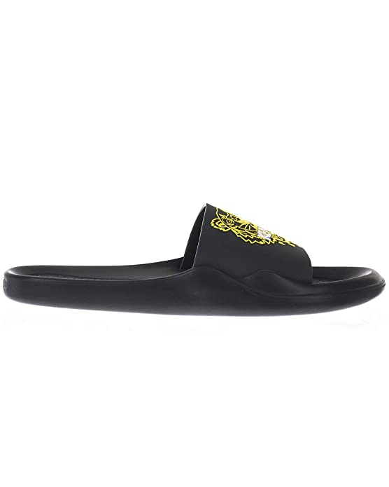 d5728ff5 Amazon.com | Kenzo Tiger Head Rubber Pool Slide Sandals Black | Slippers