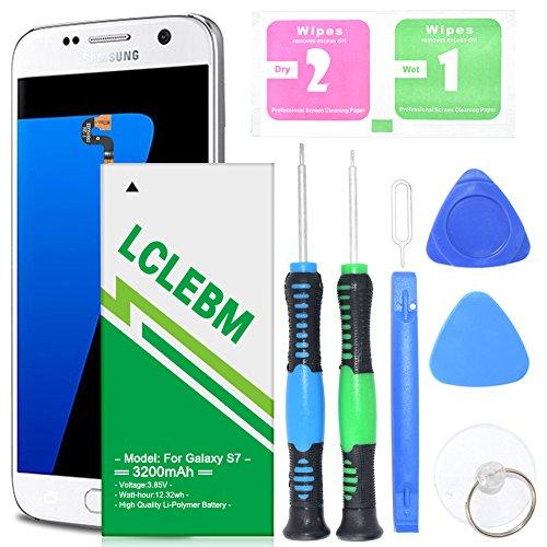 Galaxy S7 Battery, LCLEBM 3200mAh Upgraded Li-Polymer Battery EB-BG930ABE Replacement for Samsung Galaxy S7 G930 G930V G930A G930T G930P with S7 Battery Replacement Kit