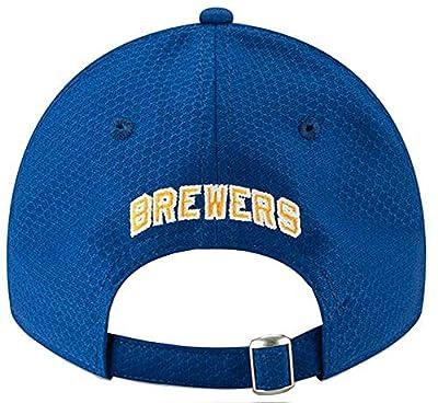 New Era 2019 MLB Milwaukee Brewers Baseball Cap Hat ALT Bat Practice 9Twenty Royal/Gold