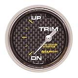"AutoMeter Auto Meter 200766-40 Gauge, Trim Level, 2 1/16"", 0Ωdown-90Ωup, Electric, Marine Carbon Fiber"