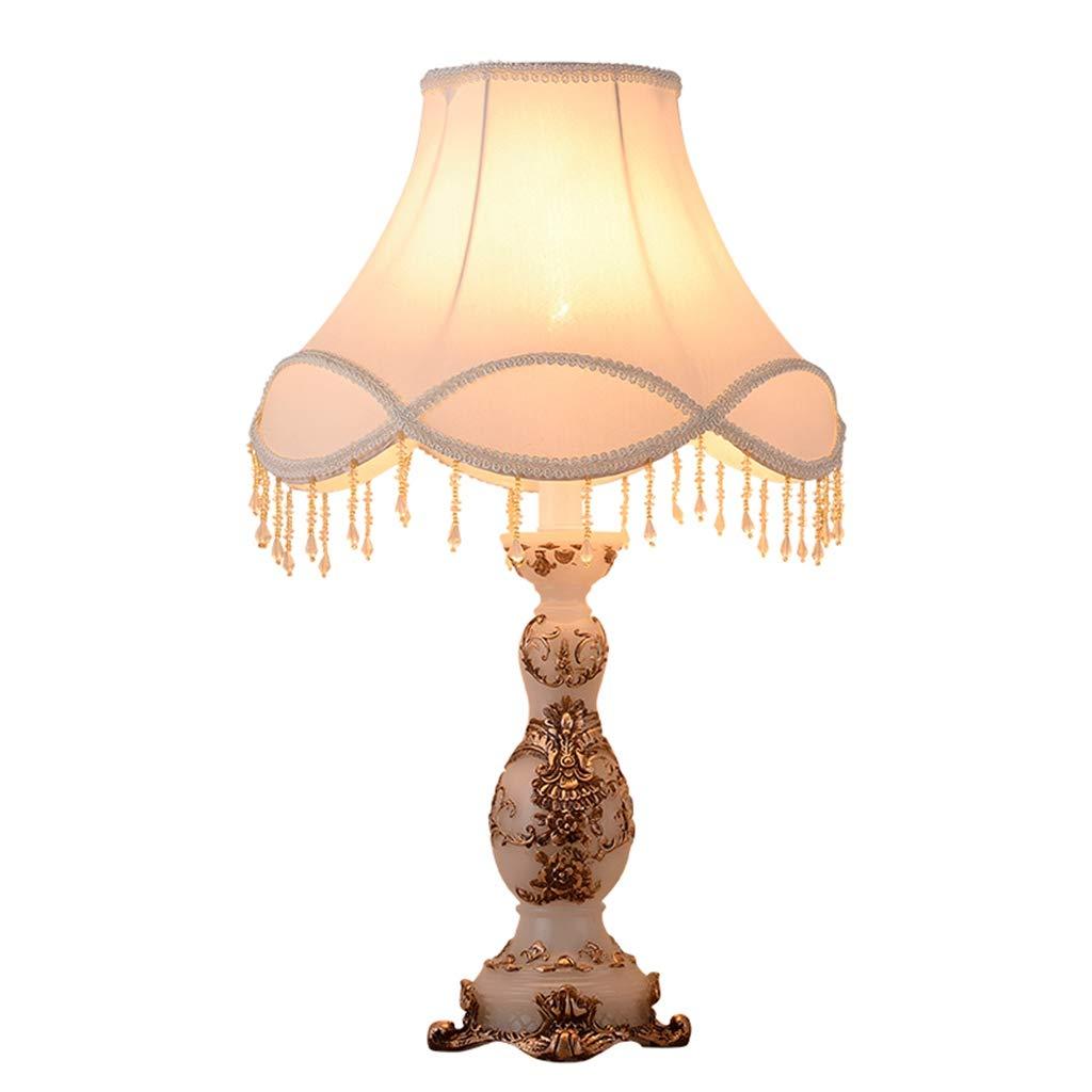 Europäischen Stil Tischlampe 13 Zoll Nachttischlampe Handgefertigte Spitze Tuch Weiß Lampenschirm Viktorianischen Stil Harz LampenKörper Schreibtischlampe Verwenden E27   E26 Lampen,DimmingSwitch