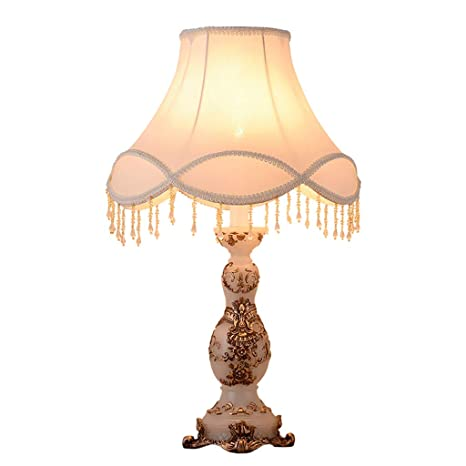 7dfa961033bb European-Style Table Lamp 13 Inch Bedside Lamp Handmade Lace Cloth ...