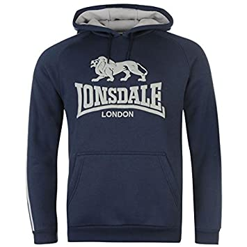 Lonsdale - Sudadera con capucha para hombre azul marino/gris sudadera con capucha sudadera jersey Top Ropa deportiva, azul marino y gris: Amazon.es: ...