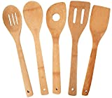 JapanBargain 3670-L 3670 Cooking Bamboo Spatula, 12 in Long, 5pc Utensil
