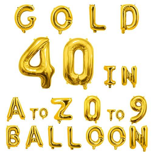 40inch Gold Letter Balloons Alphabet Balloons Helium Birthday Balloons Foil Mylar for Party Engagement Wedding Anniversary Graduation Bridal Shower Bachelorette of 2019 BALLOON (O Balloon)]()