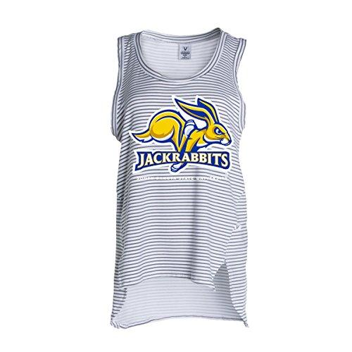 Official NCAA South Dakota State Jackrabbits SDSU Dakota State Blueman Women's Stripe Ath Lesiure Tank Top