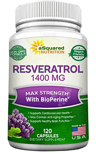 Red Wine Proprietary Red (Resveratrol 1400mg with BioPerine Supplement - Max Strength Trans-Resveratrol Formula for Anti Aging & Heart Health - 120 Vegan Capsules w/Red Wine & Grape Seed Extract, Green Tea Leaf & Acai Berry)