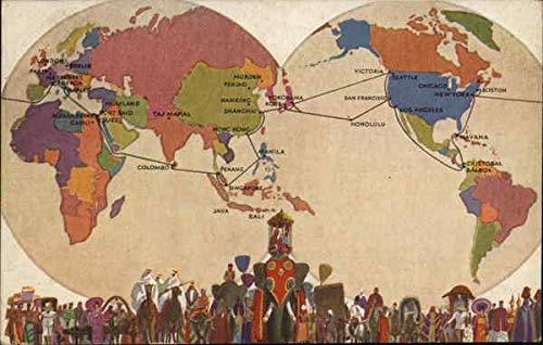 Amazon.com: Vintage Advertising Postcard: President liners ... on mykonos on world map, hue on world map, fremont on world map, kano on world map, gdansk on world map, babylon city on world map, altamira on world map, kauai hawaii on world map, chicago on world map, montreal on world map, longyearbyen on world map, mexico city on world map, buenos on world map, new york on world map, charles town on world map, tokyo on world map, california on world map, disneyland on world map, canberra on world map, sanaa on world map,