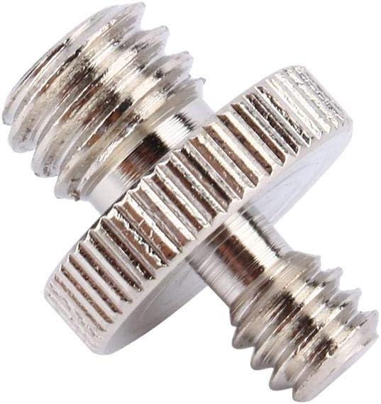 Einbeinstativ und Schnellwechselplatte etc Gewinde Yosoo 5pcs 1//4 auf 3//8 inch Verchromter Stahl Doppelau/ßengewinde adapter f/ür Kamera Stativ