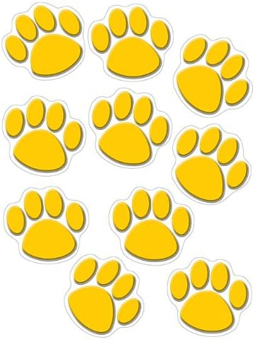 Teacher Created Resources Accents Blue Paw Print 4275