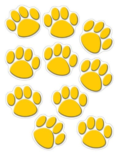 Teacher Created Resources Gold Paw Prints Accents (4645)