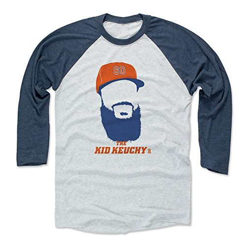 500 LEVEL Dallas Keuchel Baseball Tee Shirt Large Indigo/Ash - Houston Baseball Raglan Shirt - Dallas Keuchel Silhouette B