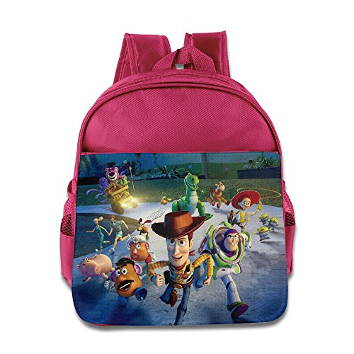 XJBD Custom Personalized Toy Story Kids School Bagpack For 1-6 Years Old Pink