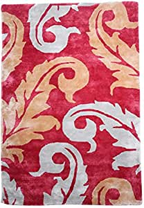 Royal Furniture Paisley Tufted Pile Rug 120 X 170 Cm - Red
