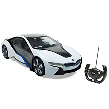 Amazon Com Rastar 49600 1 14 Scale Authorized Bmw I8 Rc Racing Car