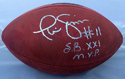 Phil Simms Autographed Signed Super Bowl Xxi Mvp Wilson NFL Game Football JSA - Certified Authentic ()